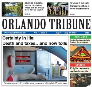 Orlando Tribune Toll Roads 1 2007 Gavin P Smith