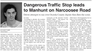 Orlando Tribune Osceola Manhunt 2007 Gavin P Smith