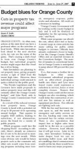 Orange County Budget Blues 2007 Gavin P Smith