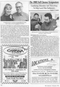 1999 Fall Cinema Symposium 2 - Wilmington, NC