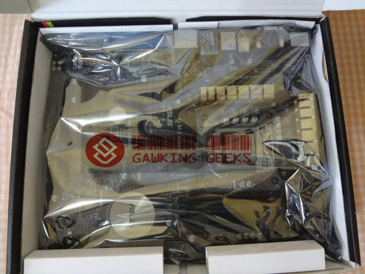 On opening the package : The motherboard is wrapped inside an anti-static bag
