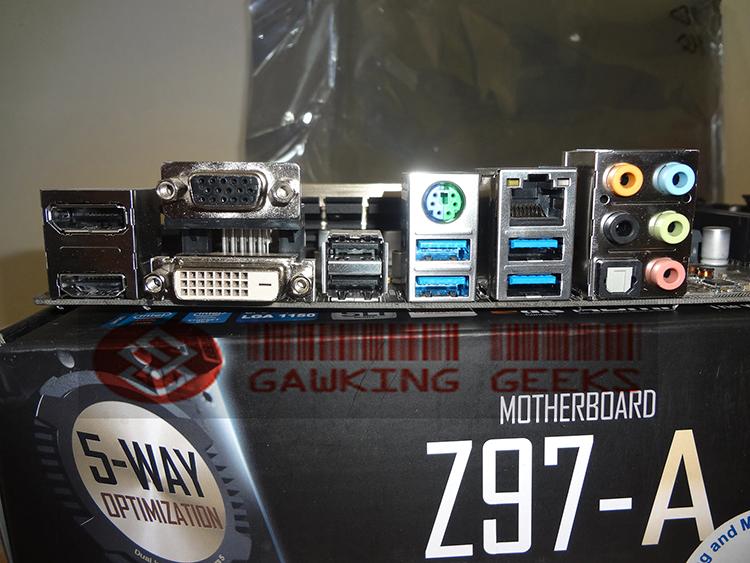 The rear I/O panel