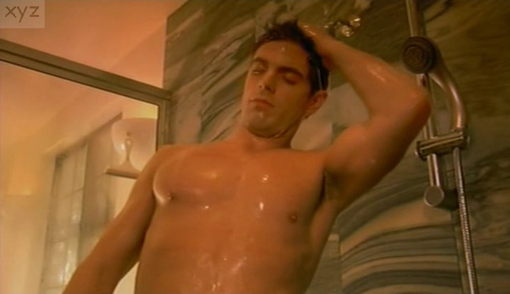 Nude men in shower