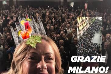 Qui Milano cuore nero, all'aperitivo fingiamo che i camerata di Giorgia Meloni non esistano