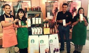 Introducing the new coffee packaging organized by roast – Starbucks® Blonde Roast, Starbucks® Medium Roast, and Starbucks® Dark Roast.