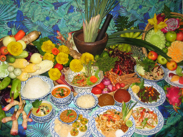 Buffet dishes available at the Amazing Taste of Thailand-Songkran Festival at Dorsett Regency Kuala Lumpur.