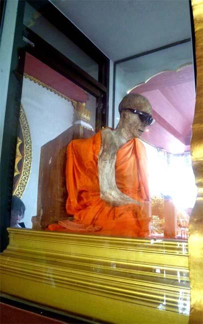 Thailand's infamous mummified monk