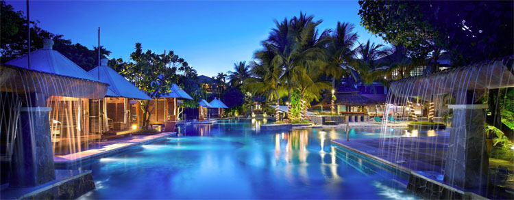Cabana Pool Side is the largest pool at Hard Rock Hotel Bali