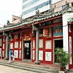 The facade of Johor Bahru Chinese Temple
