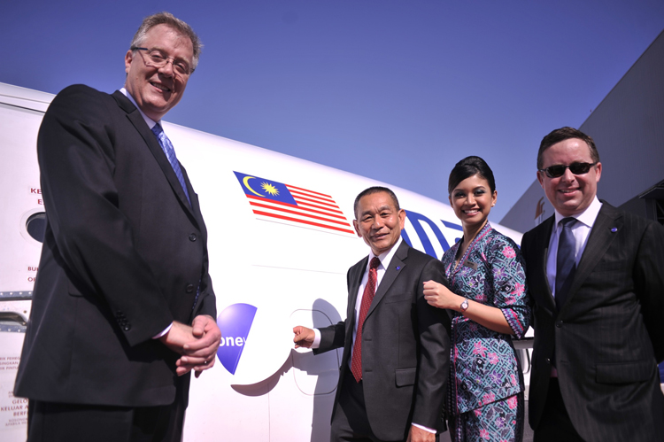 Malaysia Airlines unveils first aircraft in oneworld livery