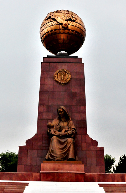 Statue of Mother and Child at The Independence Square