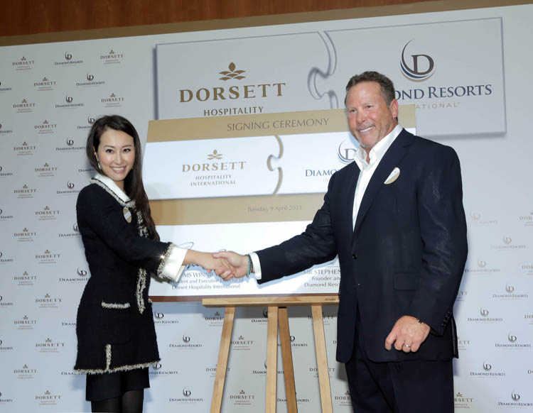 Winnie Chiu and Stephen Cloobeck formalised the affiliation between two hospitality giants recently.
