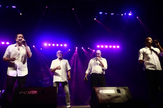 The Nylons, which is an accapella jazz group from Canada
