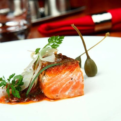 Ocean Trout Tomato Ketchup Dressing and Fennel Salad