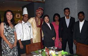 Chef Sadaquat Khan (second from left) with some of the invited guests.