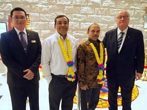 From Left - Steven Ong, Shri Vinesh Kumar Kalra, Shri K.N Ramachandran and Ian Hurst