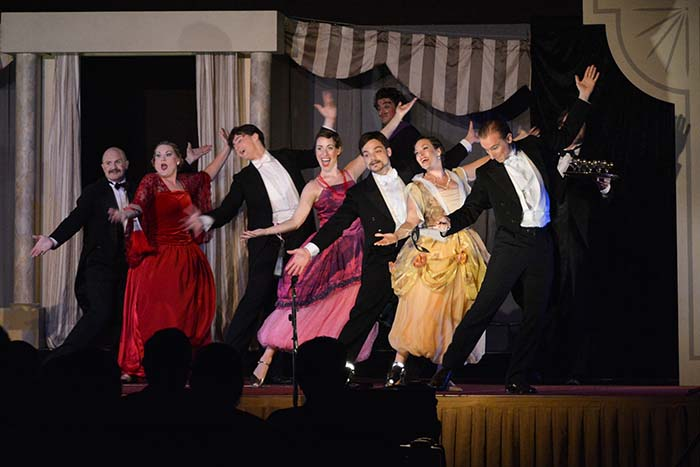"Co-Opera performs Johann Strauss's ""Die Fledermaus"" at Philea Ballroom, Philea Resort and Spa."