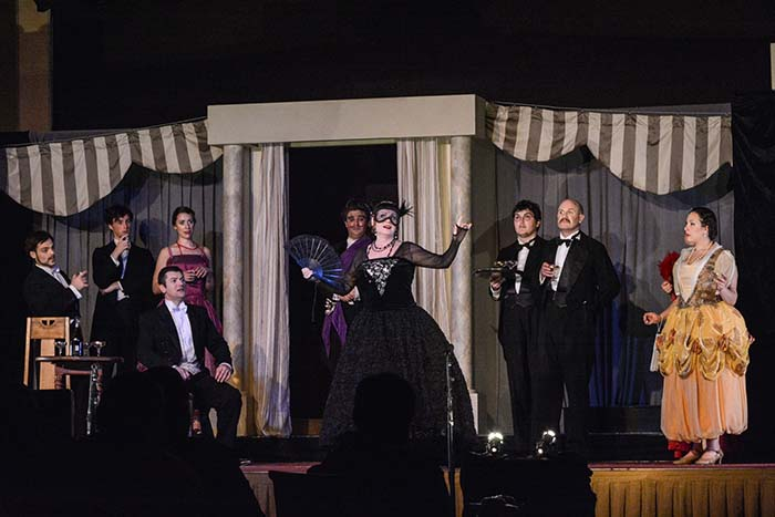 """""""Die Fledermaus"""" featuring a wonderful story, masked balls, champagne toast and the lively music that accompanied it all."""