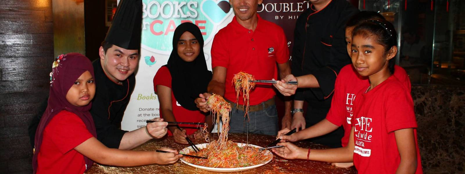 """DoubleTree by Hilton Kuala Lumpur Hosts Chinese New Year """"Kiddies Yee Sang Lunch"""" in Partnership with HOPE Worldwide Malaysia"""