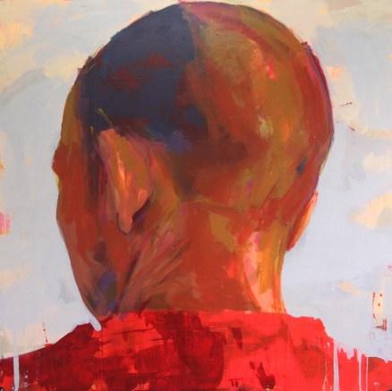 Merah 122x122cm Oil on Canvas 2014 Sudin Lappo