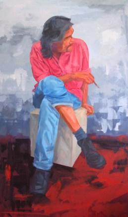 Seniman 153x92cm Oil on Canvas 2014 Sudin Lappo