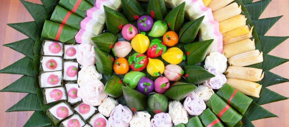 Traditional Indonesian Snacks and Cakes called Jajan Pasar at InterContinental Bali Resort