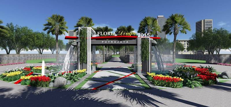 An artist impression of the arch at the Royal Floria Putrajaya 2015