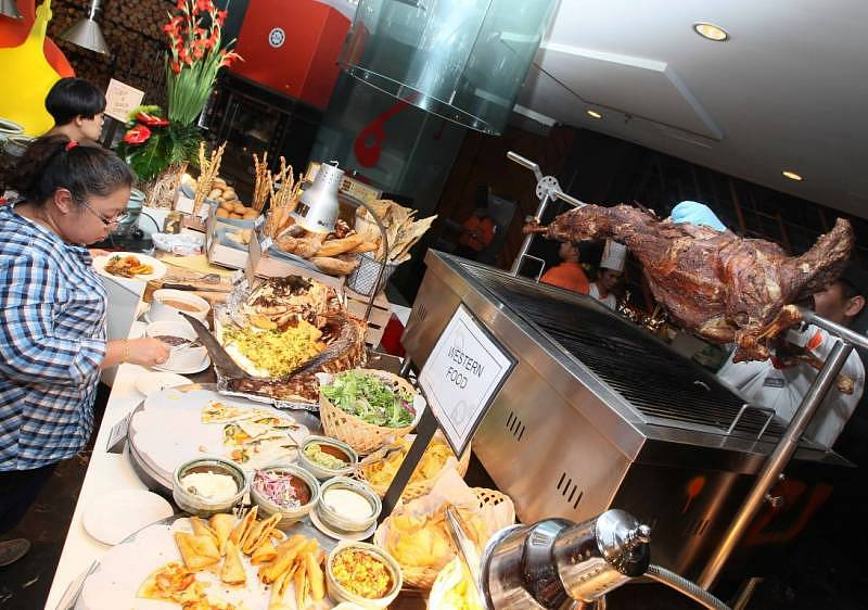Part of the spread offered by Pullman Putrajaya Lakeside at the Jom Balim Kampung Festive Dinner