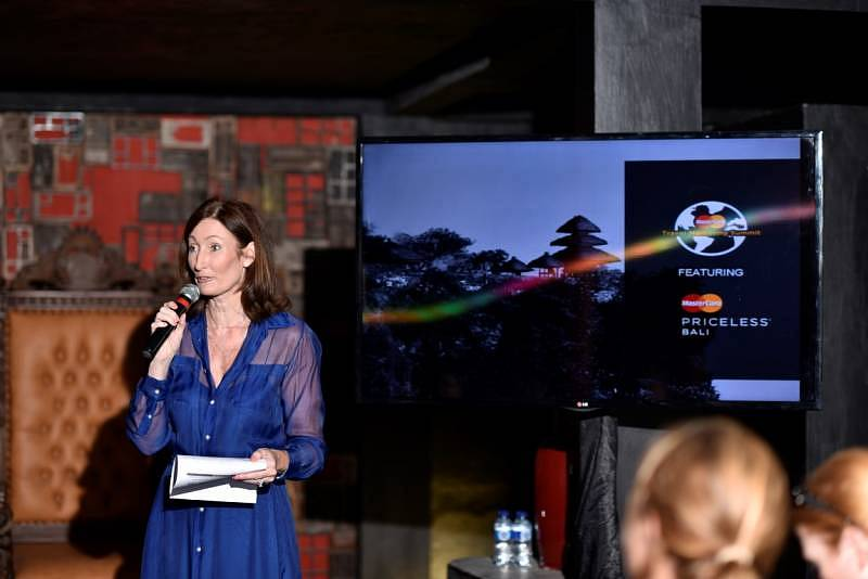 Deborah Goldingham, Head of Marketing in South East Asia at MasterCard launches Priceless Bali on 19 August 2015