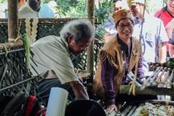 YB Elizabeth Wong talks to one of the Indigenous people.