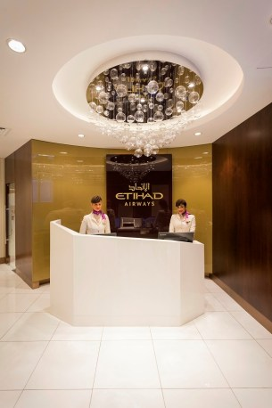 T1 Lounge Reception - Etihad Airways has officially reopened its refurbished First and Business Class Lounge at Abu Dhabi Airport's Terminal 1.