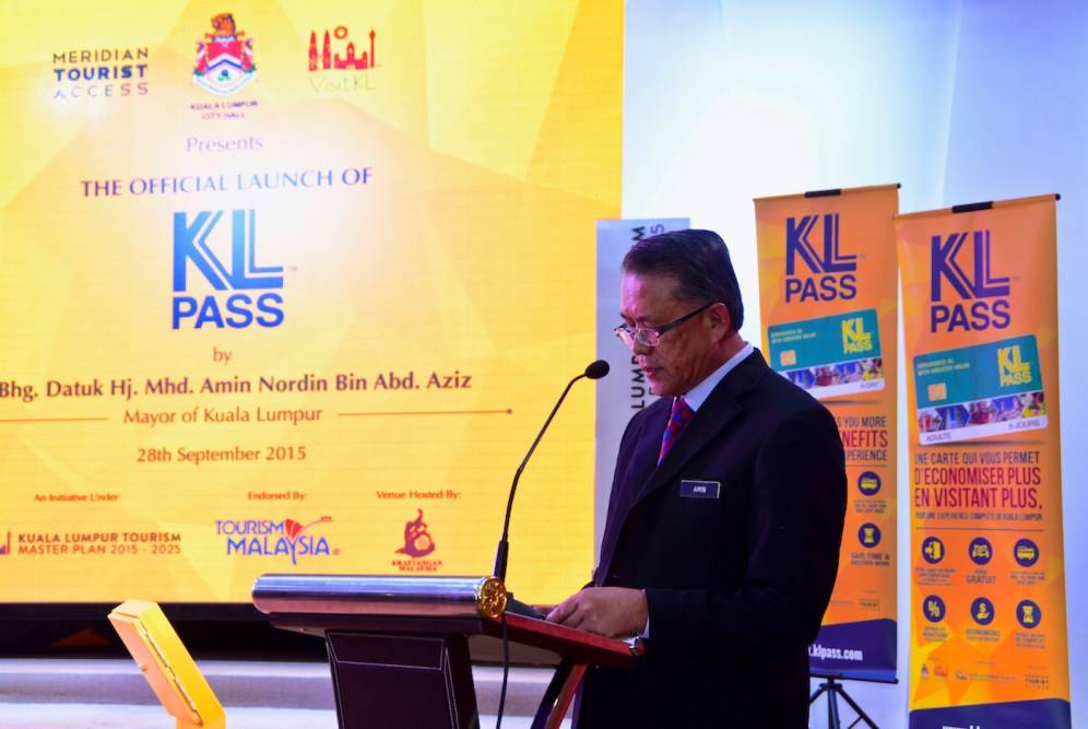 Datuk Hj. Mhd Amin Nordin Bin And Aziz, KL Mayor delivering his speech.
