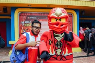 A lucky fan posing with Ninjago