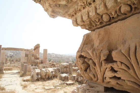Lovely details that can be seen on the ancient columns in Jerash