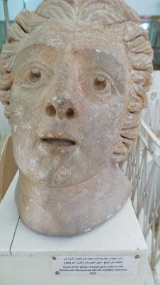A Greco-Roman bust in the National Archeological Musuem at Amman Citadel