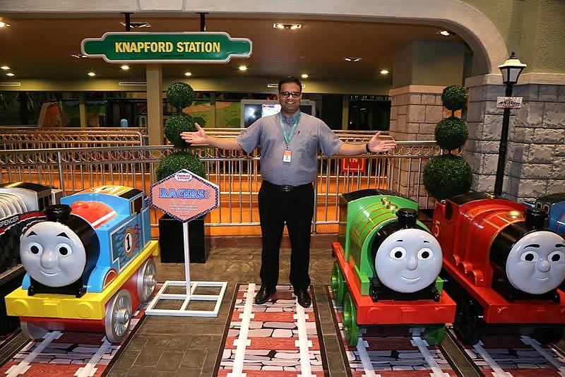 Fahruddin Najumudeen, General Manager of Thomas Town welcomes Thomas & Friends MINIS Engines to the 'home' of Thomas & Friends in Malaysia - Thomas Town