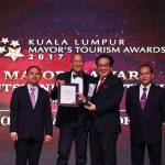 Kuala Lumpur Mayor's Tourism Awards 2017 Award Presentation and Gala Dinner