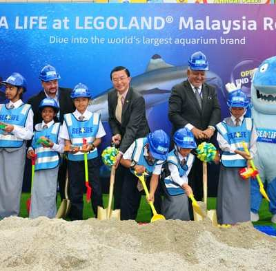 SEA LIFE Official Sand-breaking Ceremony to announce the arrival of SEA LIFE Malaysia.