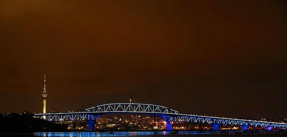 Auckland's Harbour Bridge Transformed by Lights for Waitangi Day