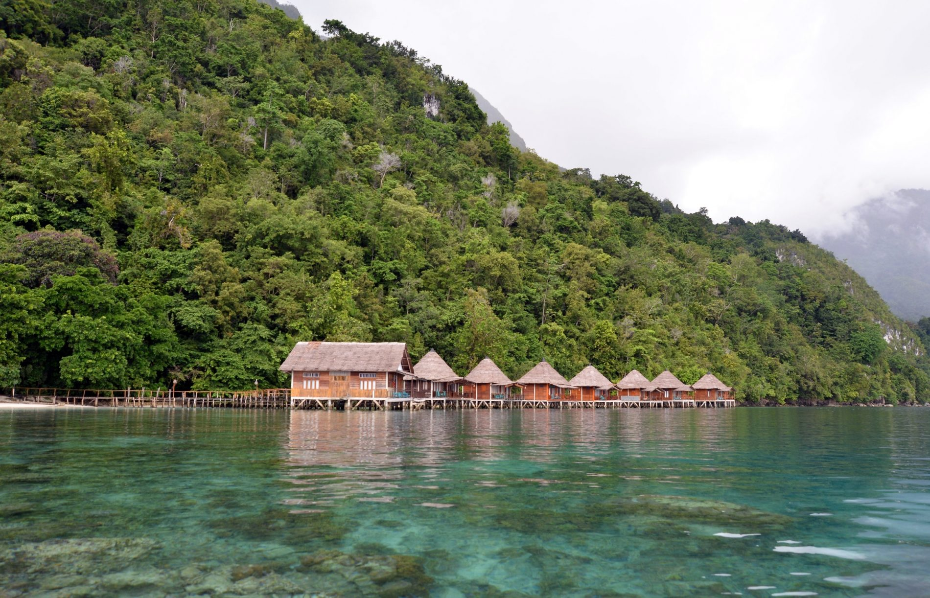 The water chalet at Ora Beach