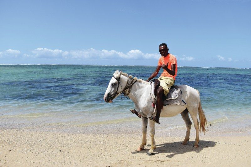 Horse riding activity at the beach of Outrigger Fiji Beach Resort