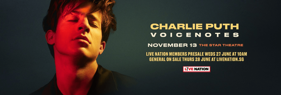 Charlie Puth Live in Singapore