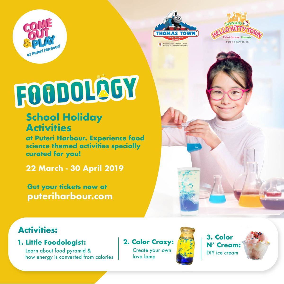 Kids! Let's Be a 'Foodologist' at THOMAS TOWN and SANRIO HELLO KITTY TOWN During This School Holiday!