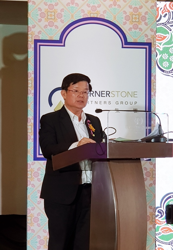 The Chief Minister of Penang YAB Chow Kon Yeow presenting his speech.