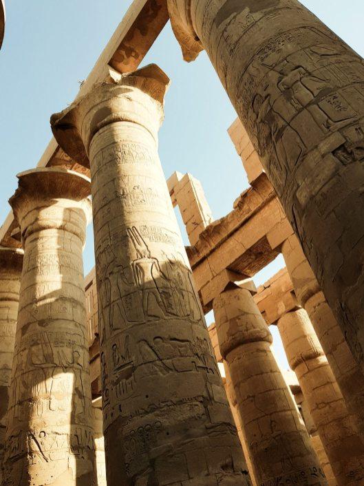 Inscriptions on columns at Karnak Temple, Luxor