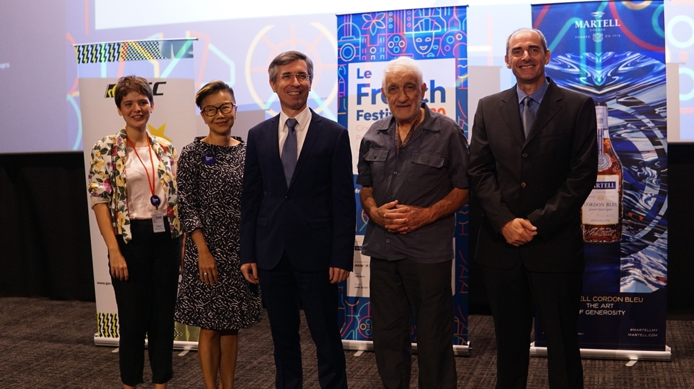 (L-R) Ms. Julie Loffi, Coordinator of Le French Festival; Ms. Shirley Low, Chief Marketing Officer of Golden Screen Cinemas; H. E. Frederic Laplanche,  Ambassador of France to Malaysia; Mr Roger Kasparian, a renowned mid-sixties French photographer whose artwork will be featured in an exhibition with LFF 2020 and Mr. Jacques Bounin, Director of Alliance Francaise at the press conference of Le French Festival 2020.