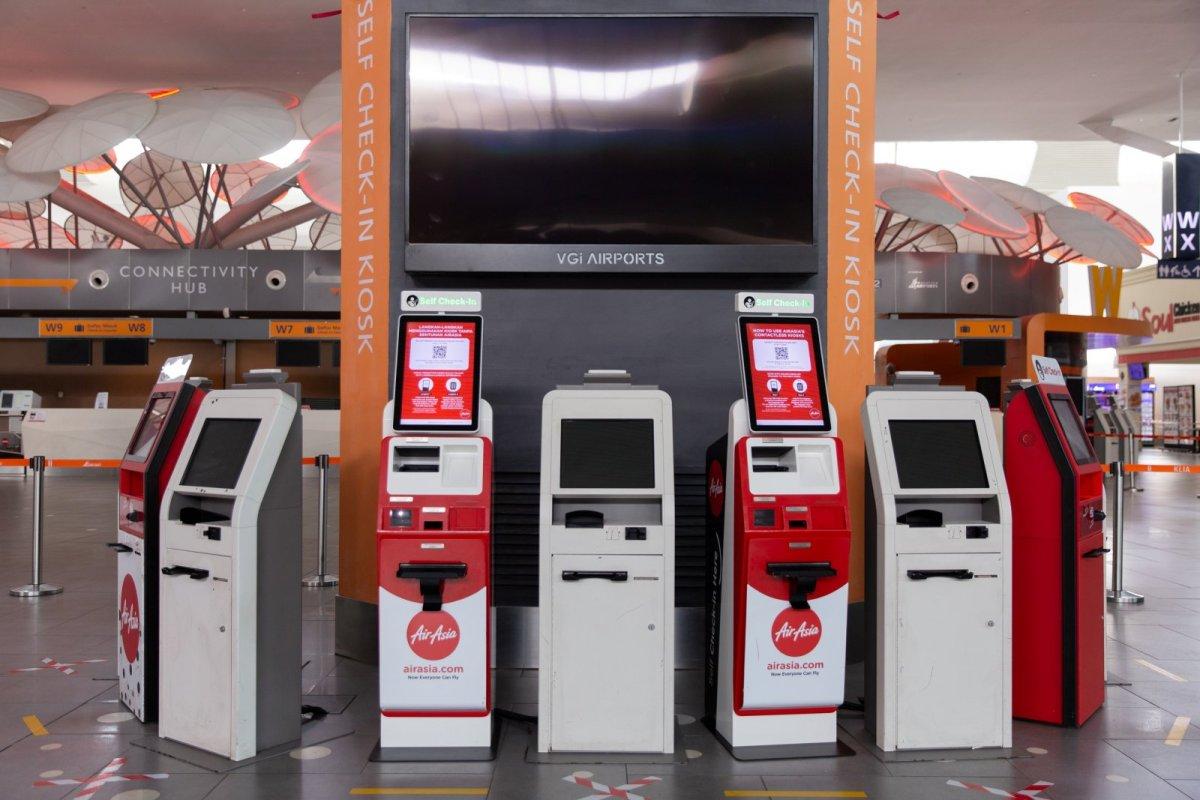 Contactless Kiosk at klia2