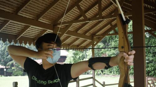 Archery at Club Med Cherating
