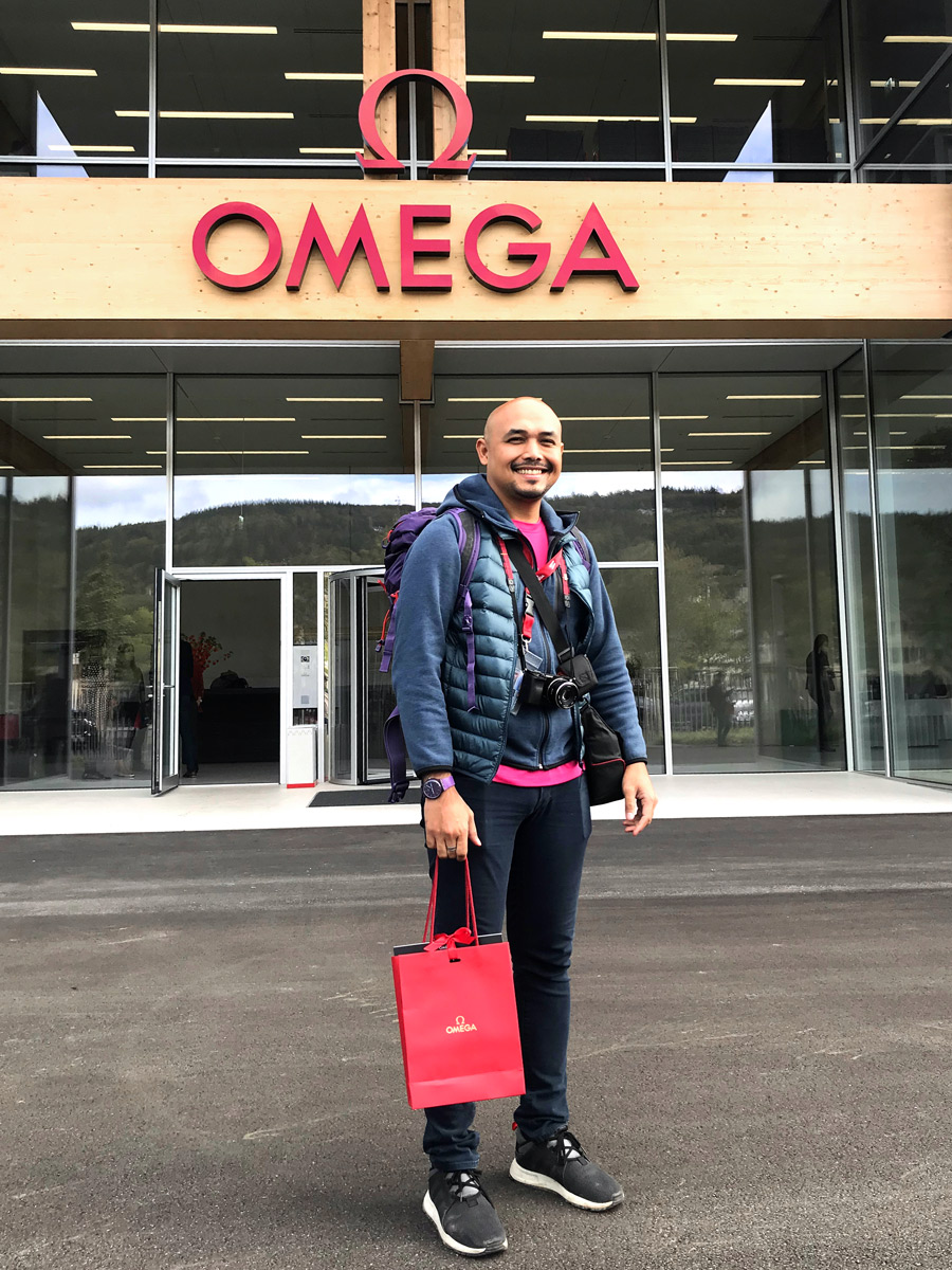 I was standing in front of OMEGA's new eco-friendly state-of-the-art factory, which was launched in 2019.