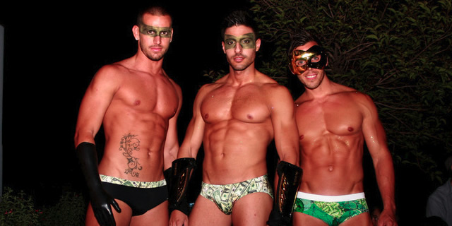 """Season opening at the Axel Hotel's """"Sky Bar"""", one of the highlights of the Barcelona gay calendar."""